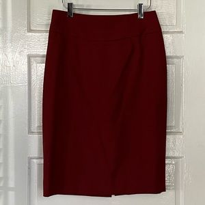 J. Crew Telegraph Pencil Skirt - Merlot
